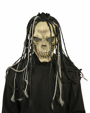ADULT DEAD DREAD SKULL SKELETON LATEX MASK WITH DREADS COSTUME MR031219