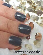 NUEVO Maybelline Color muestra Negro to Black Uña polaco en gris IMPECABLE