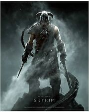 (1)Skyrim game posters double sided new