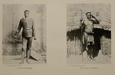 1899 STAMPA SUD AFRICA COLONIALE ZULU POLIZIOTTO ~ ZULU tetiliko