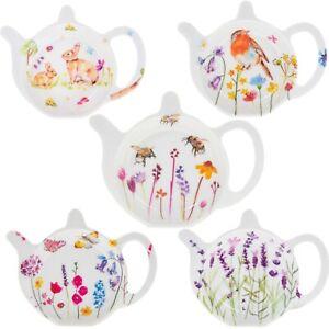 Melamine Tea bag Tidy Teapot Shape Teabag  Holder Kitchen Hygiene