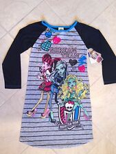 Monster High Scream Team Long Sleeve Pajama Sleepwear Gown 10/12 NWT