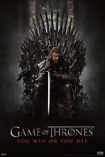 Game of Thrones GOT You Win or You Die Ned Stark HBO TV Show Poster - 24x36