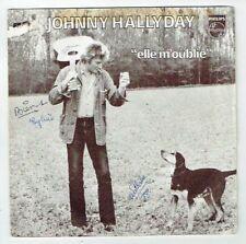 """Johnny HALLYDAY Vinyle 45T 7"""" ELLE M'OUBLIE -LA 1er PIERRE Chien PHILIPS 6172158"""