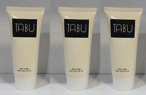 *PACK OF 3* Bottles TABU by DANA Fragrance BODY LOTION 2.0 oz NEW Unbox VINTAGE