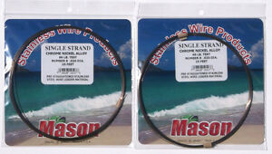 2 MASON SSBRO-8 SINGLE STRAND S.S. 86 LB TEST LEADER WIRE