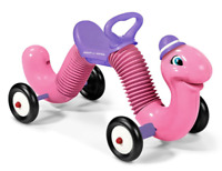 Radio Flyer Pink Inchworm Indoor Outdoor Bounce and Ride-on Toddler Toy NEW