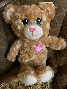 Build-A-Bear Pink Heart Teddy Plush Toy - NEW