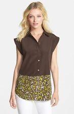 Camouflage Short Sleeve Blouses for Women