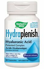 Nature's Way Hydraplenish Hyaluronic Acid Vcaps, 60 Ct (Pack of 12) + Makeup Spo