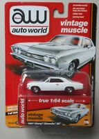 1967 GLOSS WHITE CHEVY CHEVELLE SS AUTO WORLD DIE-CAST 1:64 CAR SPECIAL EDITION