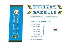 Gazelle Champion Mondial Bicycle Decals, Stickers Blue/White - n.32