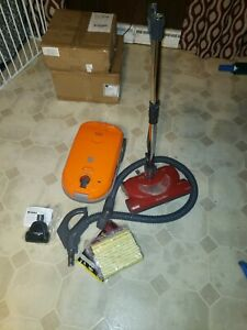 KENMORE Model 116 Hepa Media Filter 360 Orange Canister Vacuum. NICE!!!