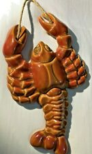 Vintage Ceramic Lobster Sea Nautical Wall Decor Collectors Item GLOBAL Ship