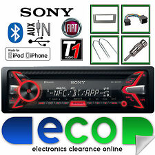 Fiat Grande Punto Sony 55x4 S CD MP3 USB Bluetooth Auto Stereo & Grigio Kit Fascia