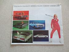 1967 Dodge car advertising booklet Polara & Coronet & Charger & Monaco & Dart