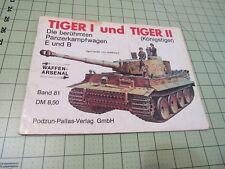 TIGER 1 UND TIGER II         PODZUN PUBLICATION   GERMAN TEXT