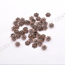 FREE SHIP 100Pcs Tibetan Silver Metal Flower Loose Spacer Beads Caps  6MM C3012