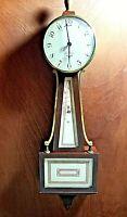 Vintage Seth Thomas 8 Day Banjo Clock Great Condition Runs Strong