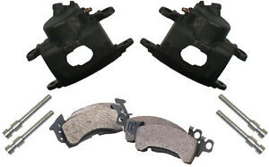 NEW D52 BRAKE CALIPER & PAD SET W/PINS,FRONT,1.28,BIG GM CAST IRON CALIPERS,PADS