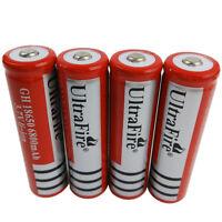 4X 3.7V 18650 Li-ion 6800mAh Rechargeable Battery for Flashlight Torch Headlamp
