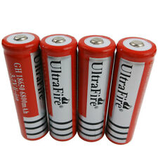 4 X 3.7V 18650 6800mAh Li-ion Batterie Rechargeable for Ultrafire LED Flashlight