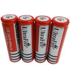 4 X 3.7V 18650 6800mAh Li-ion Batterie Rechargeable for Ultrafire LED Flashlight
