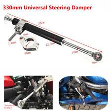 330mm Aluminum Universal Steering Damper 6way Adjust Stabilizer For Motorcycles