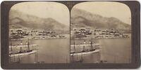 Panorama Da Monaco Monte-Carlo Foto Stereo Stereoview di Carta Citrato Vintage