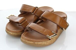 08-12  $130 Women's Sz 8 M Fitflop Remi Platform Wedge Slide Sandal In Tan