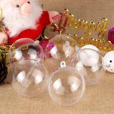 10PCS Plastique Transparent Boules Balle Ornement Noël Fête Maison Suspendu Déco