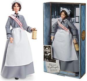 Barbie Inspiring Women Series Florence Nightingale Collectible Nurse Doll New