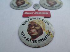Rare Americana Aunt Jemima Breakfast Club Pin 1940 s Unused X 6