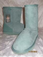 NWT  EMU Womens GREEN Suede STINGER LO SHEARLING Boots Shoes Size 10 W10 NEW