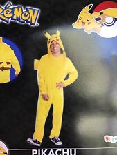 New Sealed Tag $30 Adult PIKACHU POKEMON Cosplay One Piece Suit 32-34 W Hat