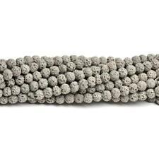 Lava Rock Stone Round Beads 6mm Grey 60+ Pcs Dyed  Gemstones Jewellery Making