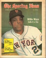 The Sporting News Baseball newspaper, 10/6/73, Willie Mays, New York Mets ~ VG