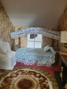 Vintage Dollhouse Bedroom Set