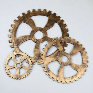Wooden Cogs Wall Hanging Cafe Bar Home Decor Gear Arts Crafts Steampunk Durable