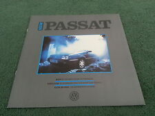 1988 1989 VW PASSAT LAUNCH Development / History etc LARGE SQUARE UK BROCHURE