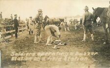 c1910 US Army Soldiers Operating Buzzer Station Military Cavalry RPPC Postcard