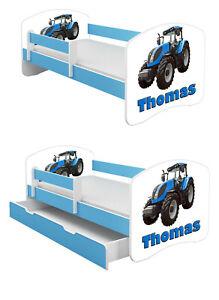 Jugendbett Kinderbett mit einer Schublade und Matratze BLAU 140x70 160x80 180x80