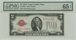 1928 $2 Legal Tender FR#1501 PMG 65 EPQ Gem