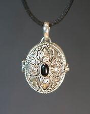 Anhänger SILBER wunderschönes Medaillon zum öffnen mit schwarzem Onyx