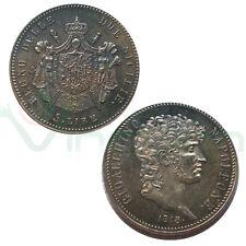 COPIA moneta collezione 5 Lire 1813 Regno delle Due Sicilie Gioacchino Murat