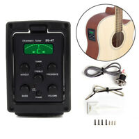4 Band Acoustic Guitar Preamp Equalizer EQ Piezo Pickup Low Noise LED Tuner R-4T