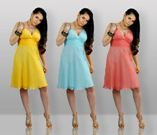 Unbranded Chiffon Patternless Ballgowns for Women