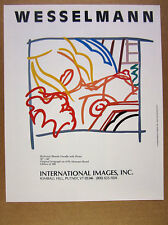 1988 Tom Wesselmann bedroom blonde doodle serigraph Intl Images vintage print Ad