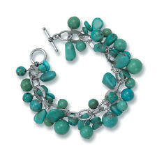 Daniel Steiger Turquoise Charm Bracelet Set In 925 Sterling SIlver