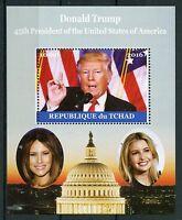 Chad 2016 MNH Donald Trump Melania 1v M/S US Presidents Stamps